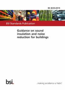 Cover of the British standard BS 8233: 2014