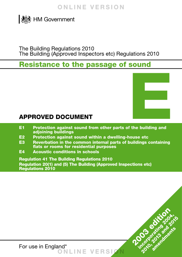 Approved Document Part E Cover